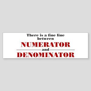 Numerator and Denominator Sticker (Bumper)