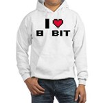 I Love 8 Bit Hooded Sweatshirt
