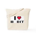 I Love 8 Bit Tote Bag