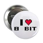 "I Love 8 Bit 2.25"" Button"
