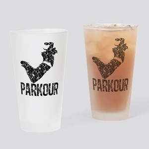 Parkour, Distressed Drinking Glass