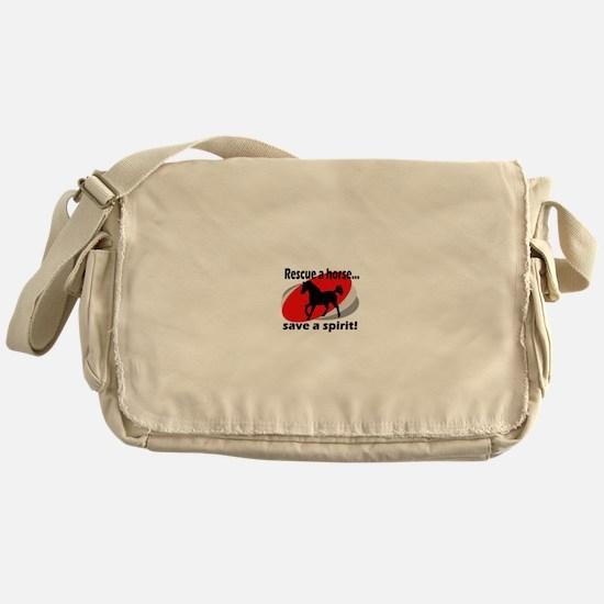 Rescue a Horse, Save a Spirit Messenger Bag