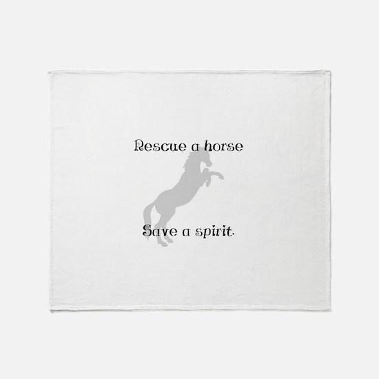 Rescue Grey Throw Blanket
