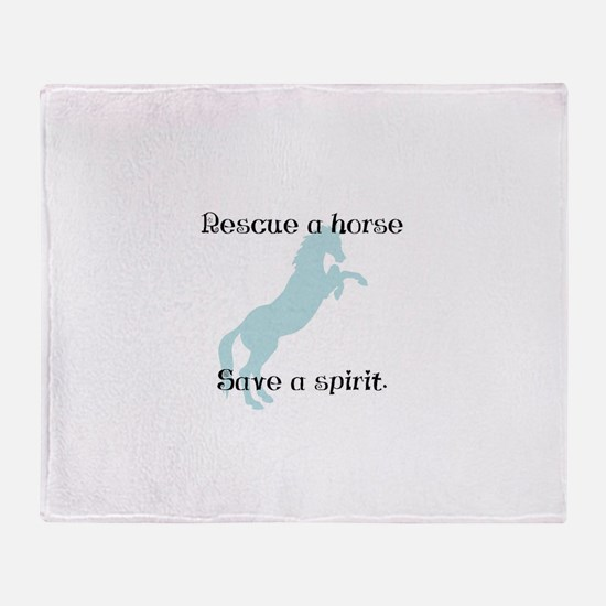 Rescue a horse... Throw Blanket