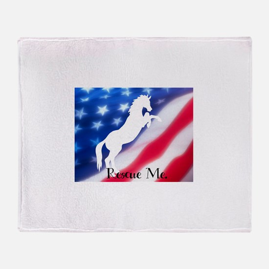 rescue me Throw Blanket
