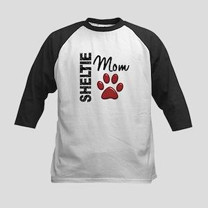 Sheltie Mom 2 Kids Baseball Jersey