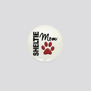 Sheltie Mom 2 Mini Button