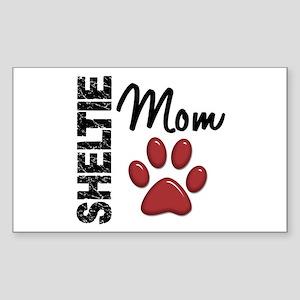 Sheltie Mom 2 Sticker (Rectangle)