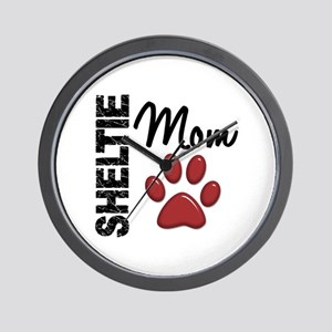 Sheltie Mom 2 Wall Clock