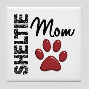 Sheltie Mom 2 Tile Coaster