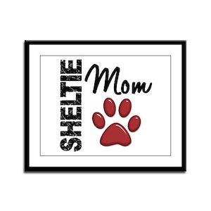 Sheltie Mom 2 Framed Panel Print