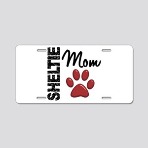 Sheltie Mom 2 Aluminum License Plate