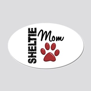 Sheltie Mom 2 22x14 Oval Wall Peel