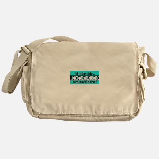 Horse Rescue Messenger Bag