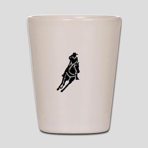 Lone Cowgirl Shot Glass
