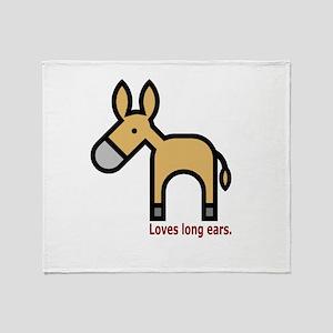 Loves Long Ears Throw Blanket