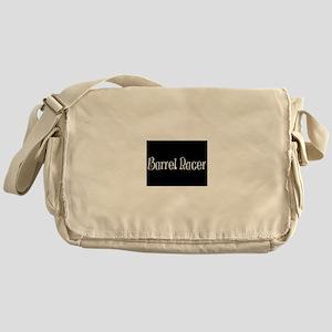 barrel racer black Messenger Bag