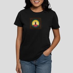 Sunrise Yoga Art Women's Dark T-Shirt