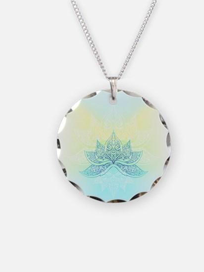 Lotus Graphic Necklace