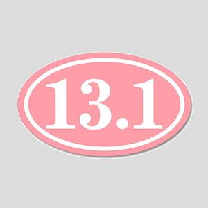 Pink 13.1 Oval 22x14 Oval Wall Peel