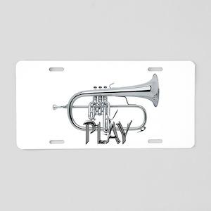 PLAY- FLUGELHORN Aluminum License Plate