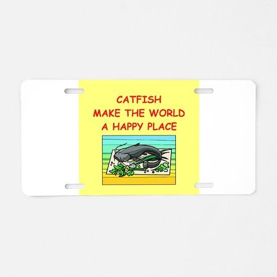 catfish Aluminum License Plate