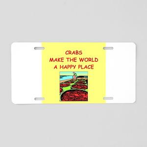 crabs Aluminum License Plate