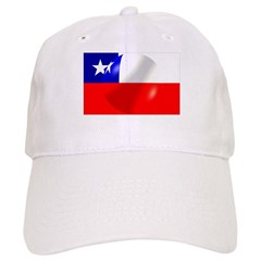 Chilean Flag With Bubble Baseball Cap
