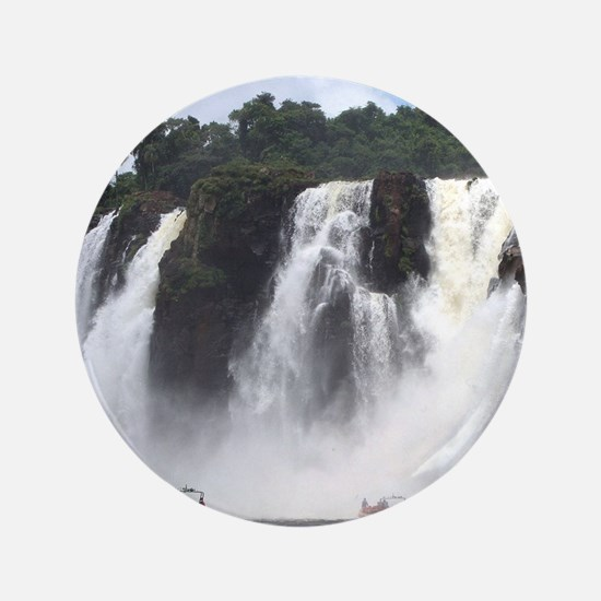 Iguazu Falls and boats, Argentina Button