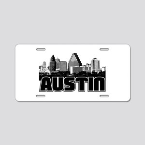 Austin Skyline Aluminum License Plate