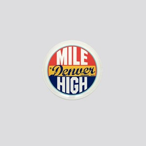 Denver Vintage Label Mini Button