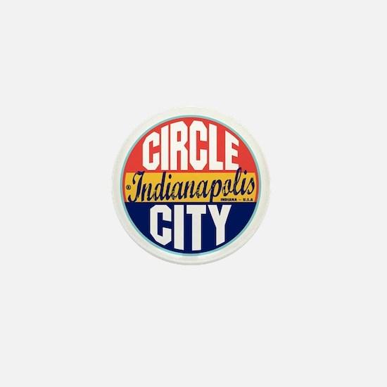 Indianapolis Vintage Label Mini Button