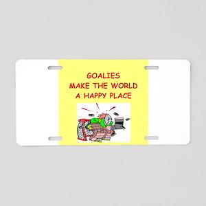 goalies Aluminum License Plate
