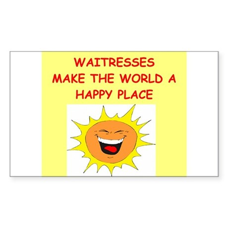 waitresses Sticker (Rectangle)