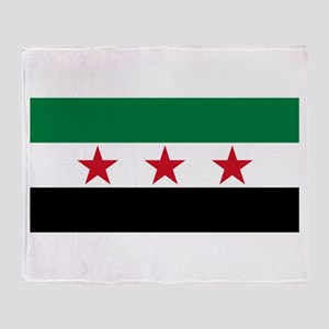 pre-1963 Flag of Syria Throw Blanket