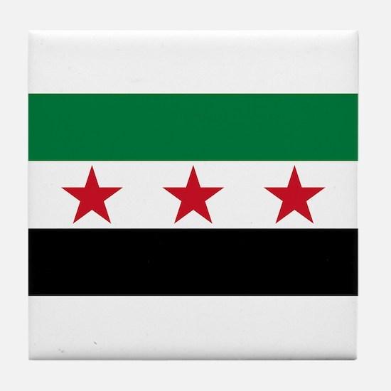 pre-1963 Flag of Syria Tile Coaster