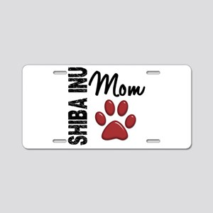 Shiba Inu Mom 2 Aluminum License Plate