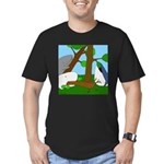 Vegetarian Whales (no text) Men's Fitted T-Shirt (