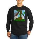 Vegetarian Whales (no text) Long Sleeve Dark T-Shi