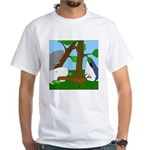 Vegetarian Whales (no text) White T-Shirt