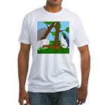 Vegetarian Whales (no text) Fitted T-Shirt