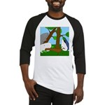 Vegetarian Whales (no text) Baseball Jersey