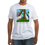 Vegetarian Whales Fitted T-Shirt