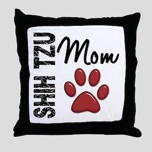 Shih Tzu Mom 2 Throw Pillow