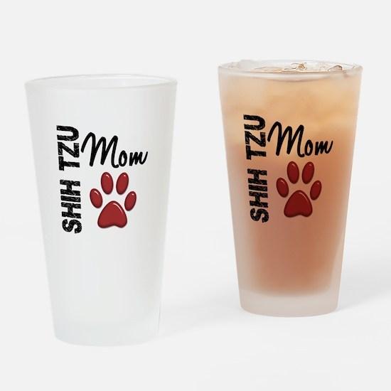 Shih Tzu Mom 2 Drinking Glass