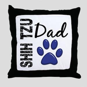 Shih Tzu Dad 2 Throw Pillow
