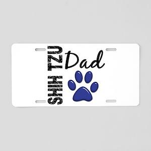 Shih Tzu Dad 2 Aluminum License Plate