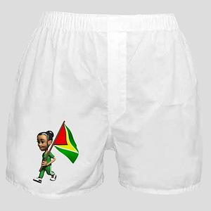Cute 3D Guyana Flag Boxer Shorts