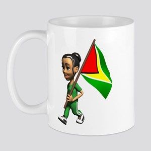 Cute 3D Guyana Flag Mug