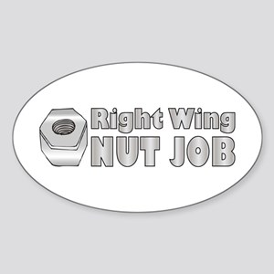Nut Job Oval Sticker